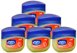 Vaseline BlueSeal Nourishing Skin Jelly 1.7oz (50ml) Jar with Vitamin E (Pack of 6)