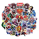HUASAI Superhero Stickers for Hydro Flask, 100 Pcs Waterproof Vinyl Stickers for Laptop, Luggage, Skateboard, Water Bottles, Bicycle, Guitar, Phone,Trendy Aesthetic Stickers for Kids, Teens