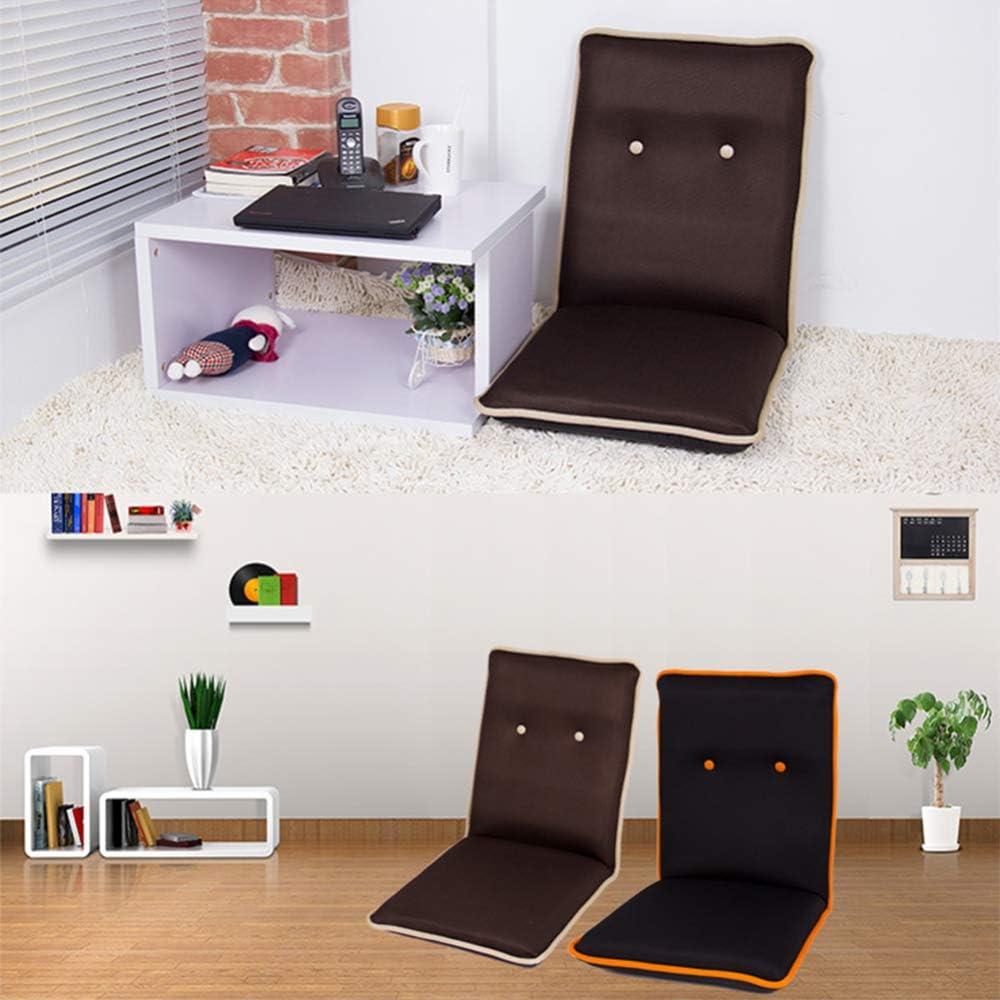 YTDHBLK Tatami Bodenstuhl Rückenlehne Klappbarer Bodenstuhl Boden-Gaming-Stuhl Meditation Yoga Read Nursing Beige