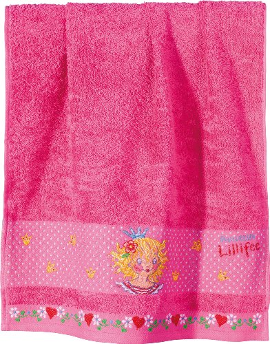 Prinzessin Lillifee 1480339600 Dyckhoff 600-1 Asciugamano per Bambino 50 x 80 cm, Colore: Rosa