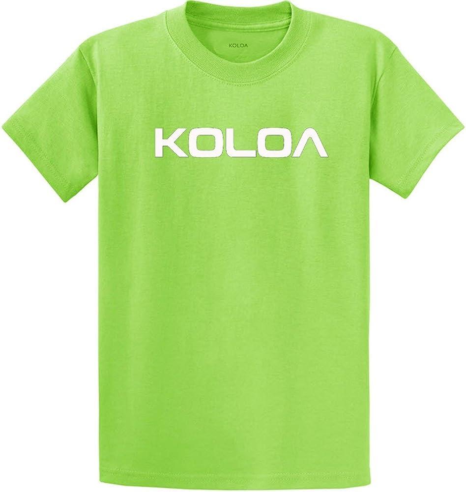 Joe's USA Koloa Surf(tm) Text Logo Cotton T-Shirts in Size Large Tall - LT Lime