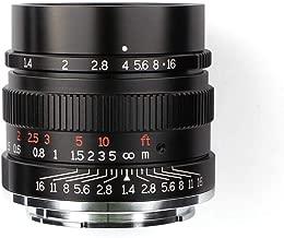 $199 Get 7artisans 35mm F1.4 Full Fame Lens for Sony Emount Cameras Like A7 A7II A7R A7RII A7S A7SII A6500 A6300 A6000 A5100 A5000 EX-3 NEX-3N NEX-3R NEX-C3 NEX-F3K NEX-5 NEX-5N -Black
