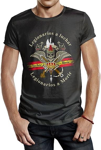 ALBERO Camiseta Negra Legión Española Blue Line Soy El Novio ...