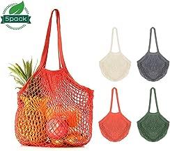 Red AS SHOW Squarex r/éutilisables Fruits Ficelle provisions Shopper Coton Fourre-tout en maille filet tiss/é Sac /à bandouli/ère