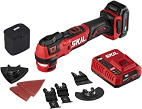SKIL PWRCore 12 Brushless 12V Oscillating Tool Kit with 40pcs Accessories, Includes 2.0Ah..