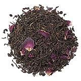 Aromas de Té - Té Rojo Pu Erh Cherry con Cereza Japonesa Sabor Caramelos de Kojak con Pétalos de Rosas y Hojuelas de Cereza a Granel, 100 gr.
