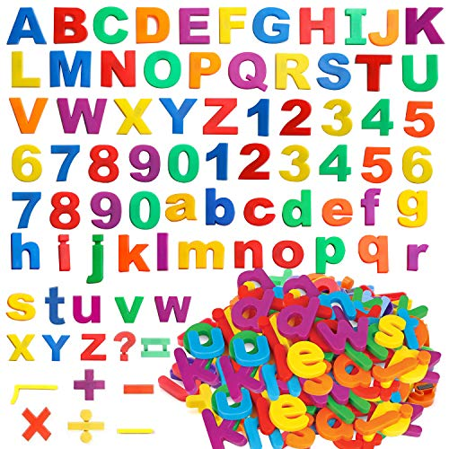 Magnetic Letters Numbers Alphabet - Colorful Magnetic Alphabet Letters ABC and Numbers 123 Learning Educational Toy Set for Kids Toddlers Preschool