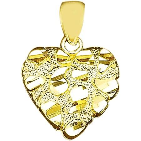 Real 10kt Yellow Gold PAPA Charm Pendant for Men Women