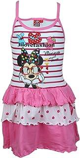 d62882c1402e4 Minnie Robe Fille avec frou frou en coton Sans manches - Rose - 2 ans