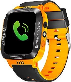 cjc Kids Smart Watch Phone, Waterproof Children GPS Tracker Safety SmartWatch 3-12 Year Old Girls Boys Toys Gift SOS Call Pedometer Camera Touch Screen Game Bracelet - Orange