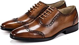 Hand Carved Casual Formal Oxford Shoes Formal Shoes (Color : Brown, Size : 42)