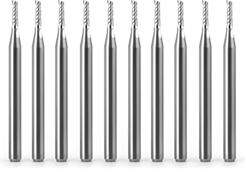 """discount MEIGGTOOL 1/8"""" Spiral Single-Blade Engraving Milling Cutter outlet sale online sale 10Pcs, for CNC, Woodworking, Metal online"""