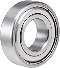 uxcell S6004ZZ Stainless Steel Ball Bearing 20x42x12mm Double Shielded 6004Z Bearings 1-Pack