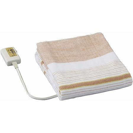 広電(KODEN) 電気毛布 敷き 130×80cm ブラウン ボーダー柄 洗える ダニ退治 省エネ スライド温度調節 VWS401-B