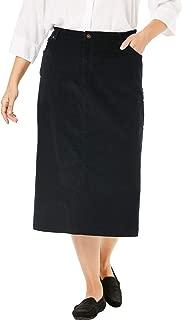 Woman Within Women's Plus Size Corduroy Skirt