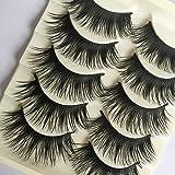 Yibenwanligod - 5 pares de pestañas postizas para maquillaje de pestañas postizas