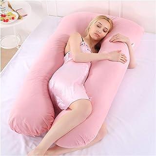 HONGBI Almohada para Embarazada Almohada para Lactancia Materna,Almohada de Embarazo y Maternidad,Cojín de Lactancia Pink 70x130cm