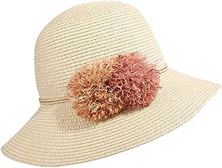 2019 Womens Hats Caps Outdoor Travel Travel Spacious Beach Hut Sunscreen Big Sun Hat Straw Hat Spring-Summer Women's Hat (Color : Beige, Size : M)