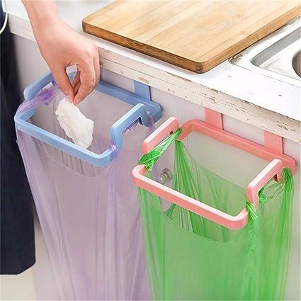 Door-back Garbage Trash Bag Bracket Rack Kitchen Shelf Holder Hanging D2A4