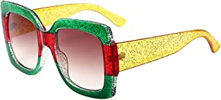 レトロ サングラス 大きいボックス 男性 女性 正方形 サングラス ファッション トレンド 美容 メガネ 太陽眼鏡