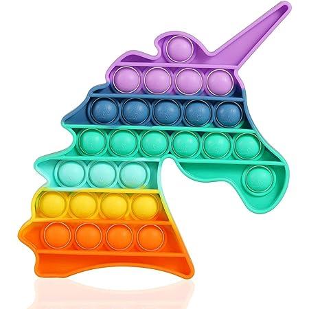 APPSOLS Pop it Fidget Toys,fidjetoys Toy Anti Stress, popit Jeux Pas Cher, Multicolore popite fijets Toys entistesses Objet satisfaisant, poppit figette Anti Stress