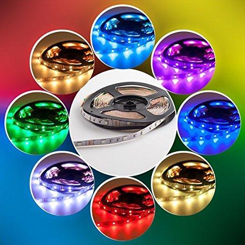 CHINS LED Streifen set, 5M 5050 RGB LED Strip lights,Led Band mit Fernbedienung 44 Tasten,Led RGB Controller mit Netzteil 12V 2.5A ,LED Band, LED Lichterkette, LED Lichtschläuche