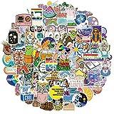RGBEE Aesthetic Sticker Set 100 Stücke, Wasserfeste Vintage Vsco Girl Sticker Klein Vinyl Graffiti Aufkleber für Laptop MacBook Koffer Helm Motorrad Skateboard Auto Fahrrad VSCO Tumblr...