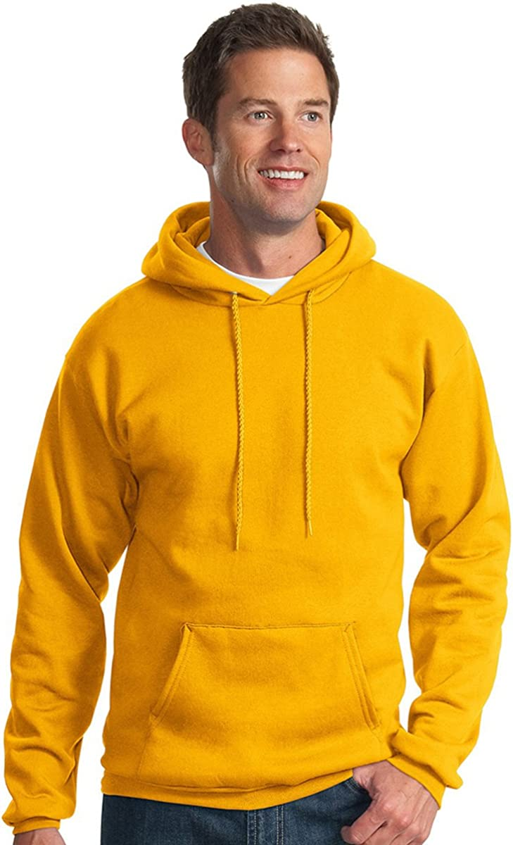 Port & Company Men's Big And Tall Pullover Hooded Sweatshirt_Gold_3XLT