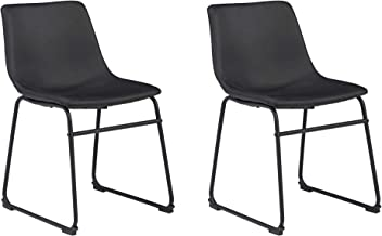 Signature Design by Ashley Centiar Dining Room Chair, Black