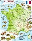 Larsen K49 Frankreich Physische Karte, Französisch Ausgabe, Rahmenpuzzle mit 60 Teilen