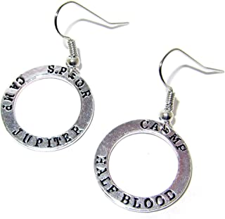 QueenGEEK Percy Jackson Camp Half-Blood Camp Jupiter Earrings US SELLER