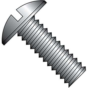 Imported Fully Threaded Steel Truss Head Machine Screw Meets ASME B18.6.3 #10-32 Thread Size Slotted Drive Pack of 100 Zinc Plated Finish 3//16 Length