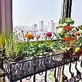 YUEXIN Blumenbank Eisenbalkon hängen Blumenregal Topfständer Pflanze Lagerung Geländer, Blumenständer Blumenkasten Pflanzenbank Blumenregal