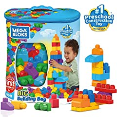 80 classic-colored building blocks, including special shapes Perfect for little hands Hands-on play for early childhood development Storage bag for easy cleanup Combine with other Mega Bloks preschool toys and build them up!