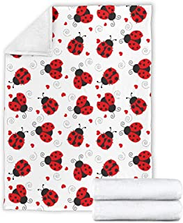 freedomlook Love Ladybugs Super Soft Anti-Pill Fleece Blanket, Ladybug Lover Minky Blanket, Warm Kids and Adults Throw Blanket (Baby (30