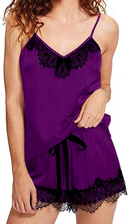 YLLQXI Women Lingerie Sexy Pajama Large-scale sale Shorts Set Camisole Max 69% OFF