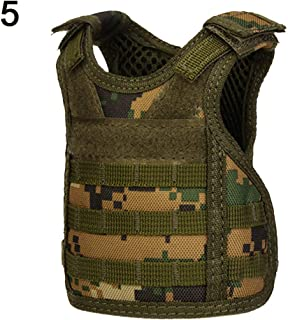 CHoppyWAVE Christmas Wine Bottle Covers Ugly Sweater, Outdoor Camo Tactical Military Mini Vest Beer Beverage Water Bottle Cup Holder - 5#