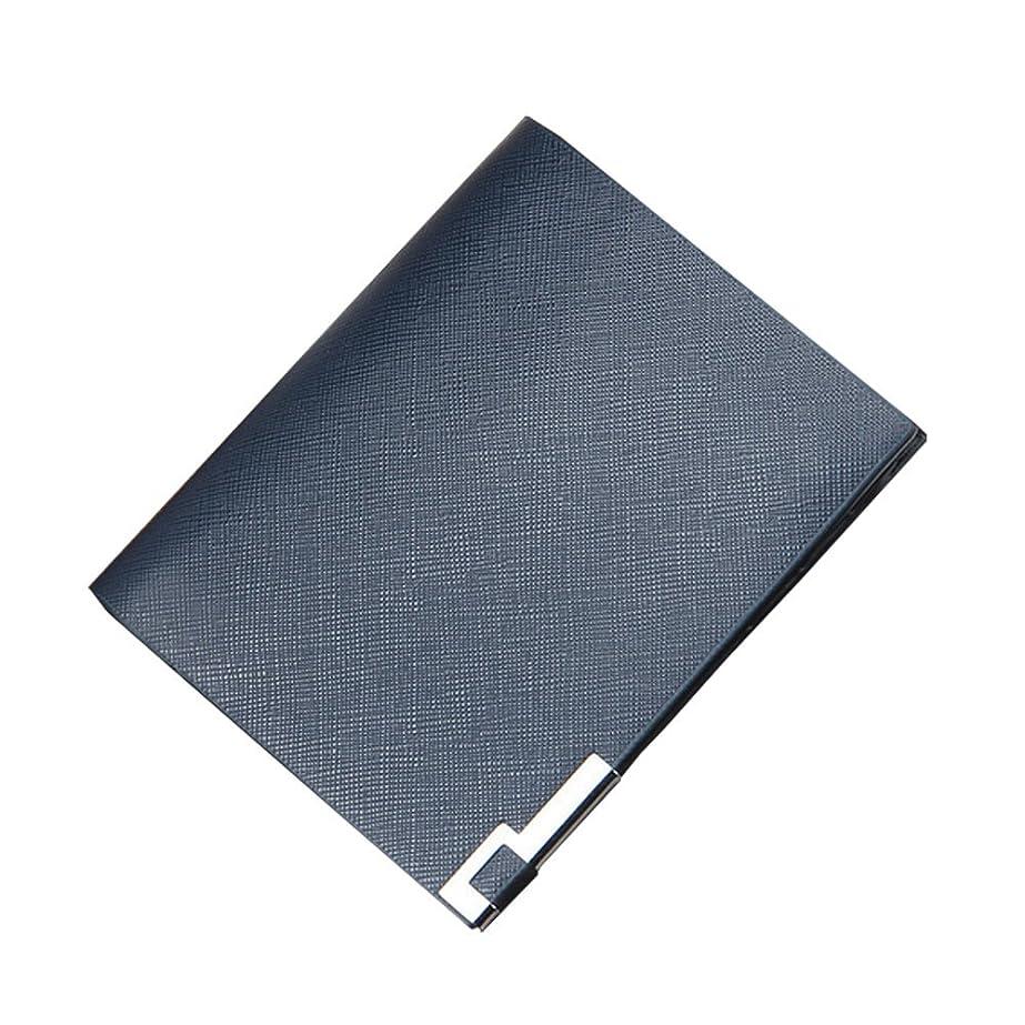 捕虜読み書きのできない調査スリムBillfold Shortレザーフロントポケット財布カードホルダー二つ折りメンズ、男児