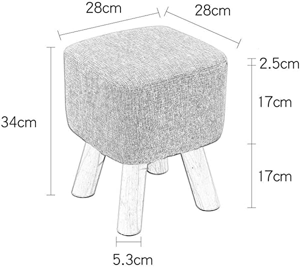 Carl Artbay Wooden Footstool Heightening Creative Living Room Change Shoes Fashion Fabric Sofa Bench Bench Baby Straps Home Color Orange