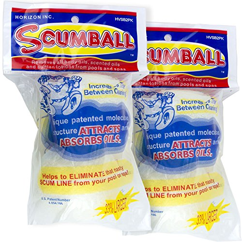 Horizon HV-SB2PK Scumball Pool and Spa Scum Eliminating Ball (2 Packs of 2)