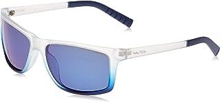 نظارات شمسية للرجال باطار مستطيل من نوتيكا، لون كحلي مطفي متدرج