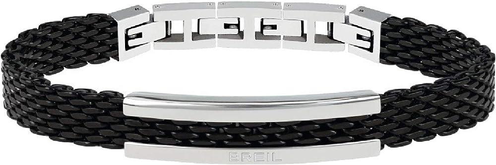 Breil, bracciale in acciaio colorato,per uomo TJ2742