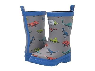 Hatley Kids Wild Dino Rain Boots (Toddler/Little Kid) (Grey) Boy