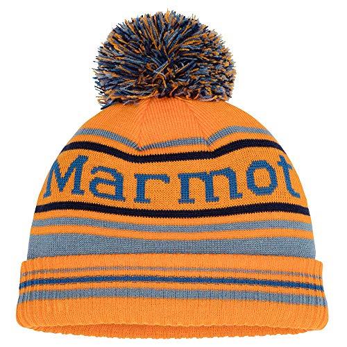 Marmot Boy's Retro Pom Hat Chapeau Garçon, Ember/Blue Granite, One