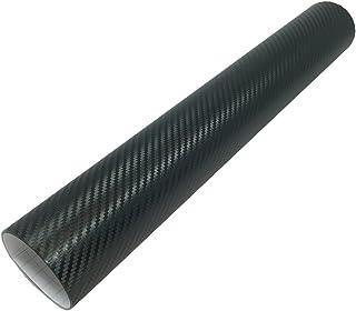 ホークスアイ(HAWK's EYE) 伸縮性 エア抜き溝仕様 エア噛みしにくい リアルカーボンシート 業務用 切り売り 152×40cm ブラック HE0170