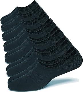 10 Pairs No Show Socks Women&Men Low Cut Liner Non-Slip Thin for Flats Boat