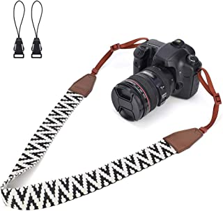 LIFEMATE Woven Vintage Soft Camera Strap Belt for All DSLR Camera, Neck Shoulder Camera Strap for Canon, Nikon,Pentax, Son...