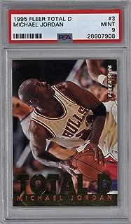 1995 Fleer Total D Michael Jordan #3 Basketball Card PSA 9 MINT Bulls NBA - Unsigned Basketball Cards