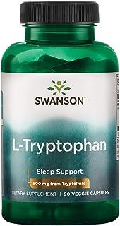 Swanson Amino Acid L-Tryptophan Tryptopure 100% Pure Pharmaceutical Grade 500 Milligrams 90 Veg Capsules