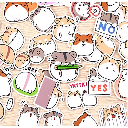 40 pcs Funny Little Hamster Stickers for Home Decor On Phone Book MacBook Laptop Sticker Decal Fridge Skateboard Toy